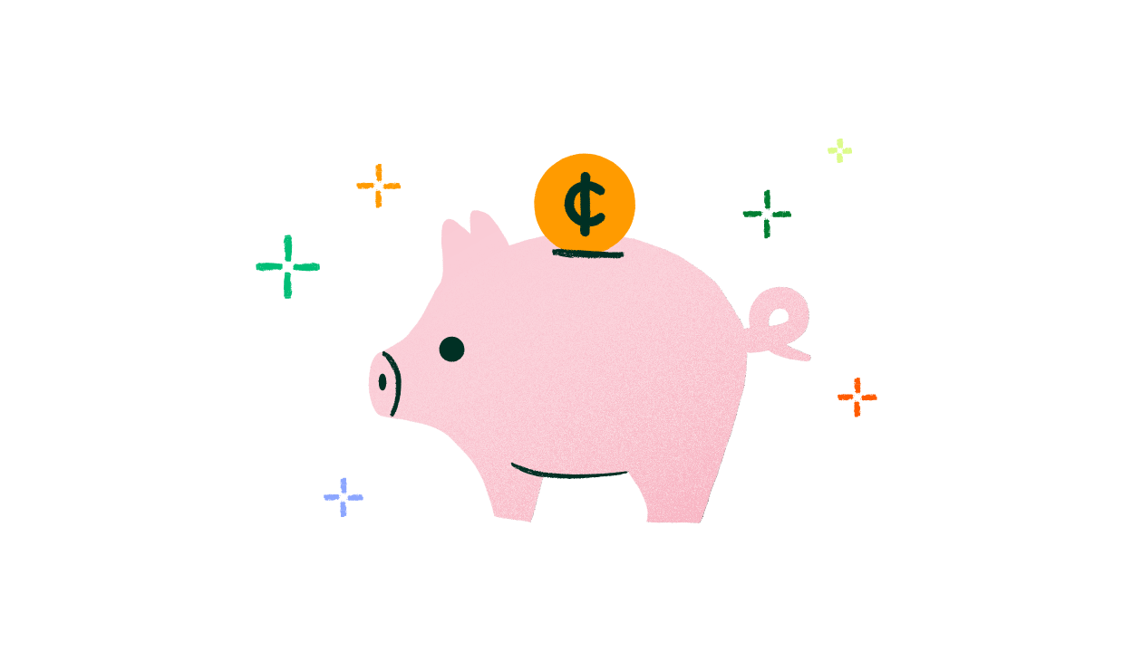 Illustration of a piggy bank