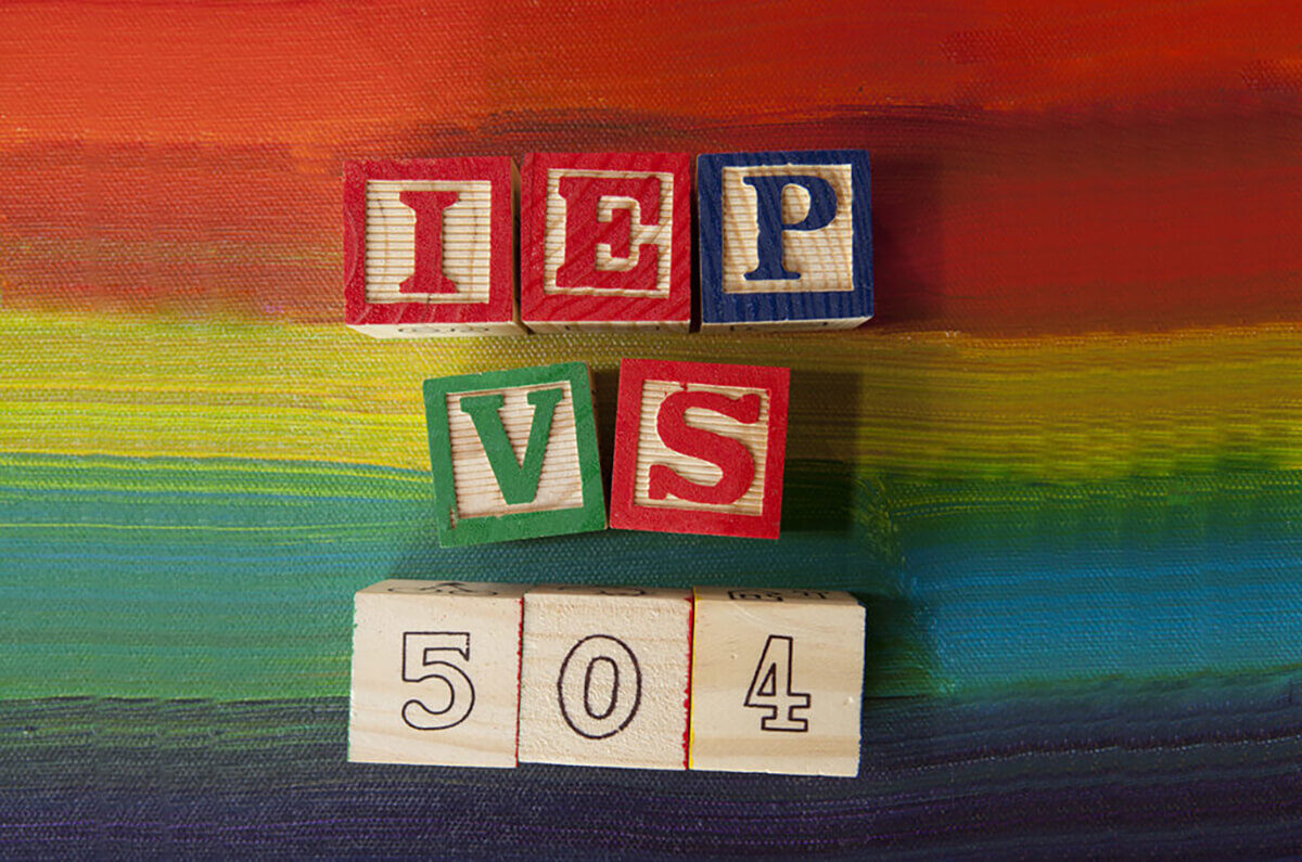 Image result for 504 vs iep